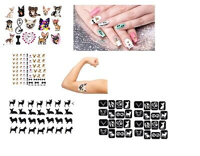 Chihuahua Dog Collection Nail Stickers - Nail Art - Tattoos - Stickers  • 4£