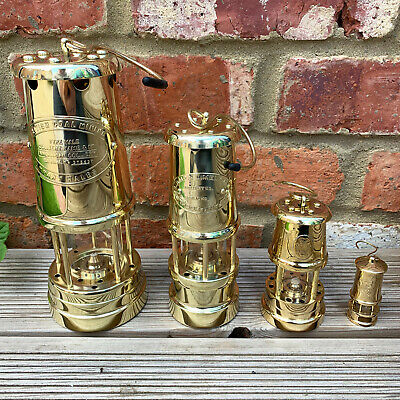 £74.99 • Buy Vintage Brass Metal British Wales Coillery Coal Miners Gas Lighting Safety Lamps