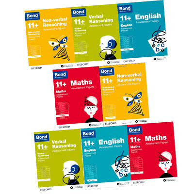 Bond 11+:Assessment Papers Year 5-7,8 Books Collection Set English,Maths,Verbal  • 32.99£