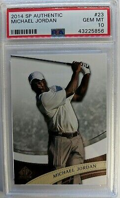 $170.19 • Buy 2014 14 SP AUTHENTIC GOLF Michael Jordan #23, PSA 10 GEM MINT, Low Pop 11 !