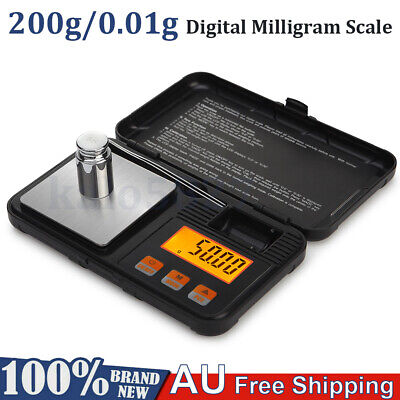 AU18.99 • Buy High Precision Digital Milligram Scale 200g*0.01g Portable Jewelry Scale + Tools
