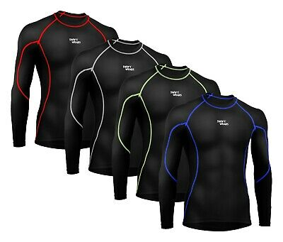 Men Compression Armor Base Layer Top Long Sleeve Thermal Gym Sport Shirt Cycling • 10.99£
