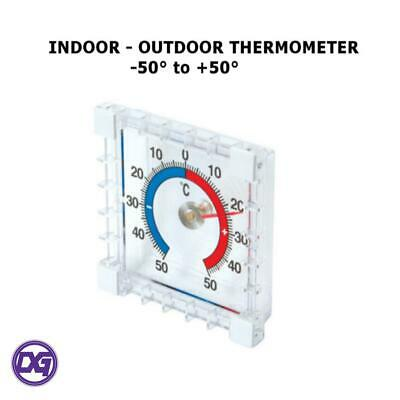 New INDOOR OUTDOOR STICK ON THERMOMETER Window Wall Garden Greenhouse Home Room✔ • 1.99£