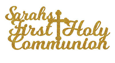 Personalised First Holy Communion Cake Topper Any Name Decoration  • 4.99£