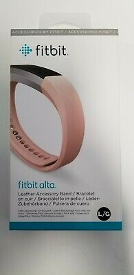 AU7.73 • Buy Genuine Fitbit Alta Replacement Accessory Band LEATHER Pink Large