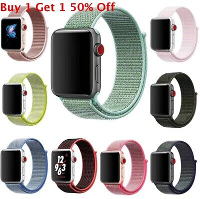 $ CDN6.57 • Buy Sport Loop Band Nylon Strap For Apple Watch Series 5 4 3 2 1 42mm 38mm 44mm 40mm
