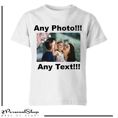 Personalised Photo T Shirt  Printed Custom Text Women Men Kids Stag Do Hen Party • 11.99£