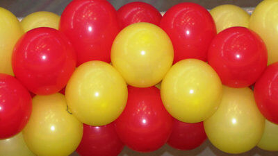 10 X Red And Yellow Latex Balloons Spain Wedding Birthday Party Cute Love Mix  • 1.99£