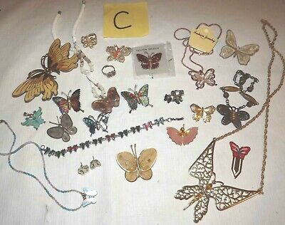 $ CDN53.74 • Buy Huge Lot C Of Butterfly Jewelry Necklaces, Earrings, Brooch/pins & More *lqqk*
