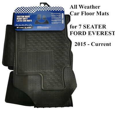 AU95 • Buy All Weather Heavy Duty Rubber Floor Mats For FORD EVEREST 7 Seats 2015 - 2021