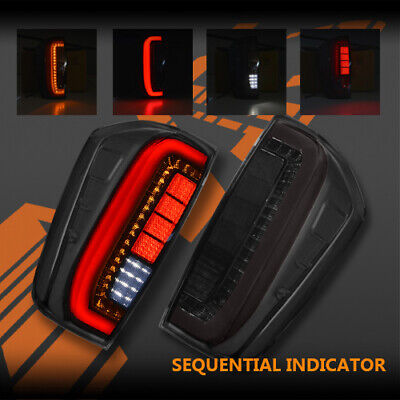 AU299.99 • Buy Smoked Full LED & Sequential Indicator Tail Lights For Nissan NAVARA NP300 D23