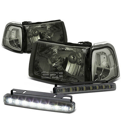 $70.88 • Buy Smoked Housing Head+clear Corner Signal+led Fog Light Kit For 01-11 Ford Ranger
