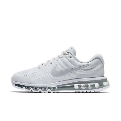 Nike Air Max 2017 White Wolf Grey Platinum 849559-009 Men's Running Shoes NEW! • 129.95$