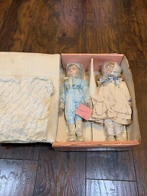 $ CDN27 • Buy Marian Yu Design Lot Of 2 Porcelain Dolls W/ Box & Stands Vintage Antique