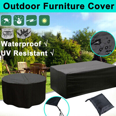Waterproof Garden Rattan Sofa Wood Furniture Table Cover For 2-12 Seater Outdoor • 35.87£
