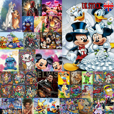 £4.69 • Buy UK Full Drill 5D Diamond Painting Embroidery Cross Craft Art Mickey Characters