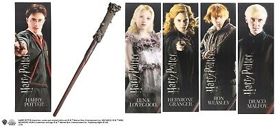 £15.95 • Buy Official Harry Potter 12 Inch PVC Character Wands With 3D Lenticular Bookmark