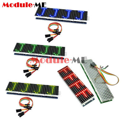 £3.89 • Buy Red/Blue/Green MAX7219 Microcontroller 4 In 1 Display LED Dot Matrix Module