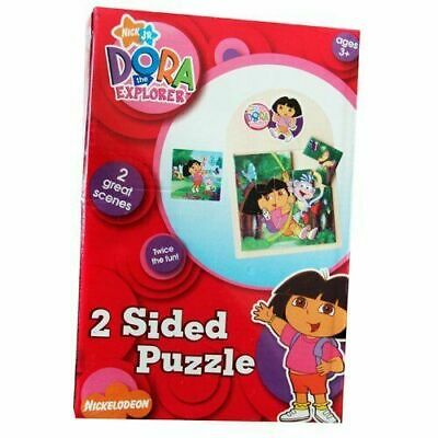 Girls DORA THE EXPLORER 2 Sided Puzzle Birthday Party Tableware Party Child Kids • 3.25£