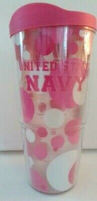Thermal Cup With Lid Pink Circle  United States Navy  Tenvis  18 OZ         D • 11.49£