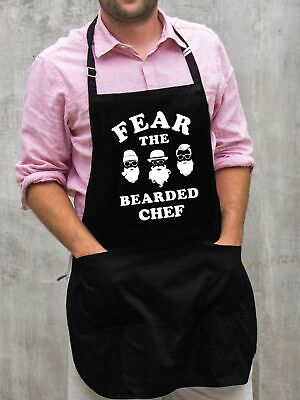$22 • Buy Fear The Bearded Chef Apron / Funny BBQ Grilling Gift For Men - Dads & Grandpas