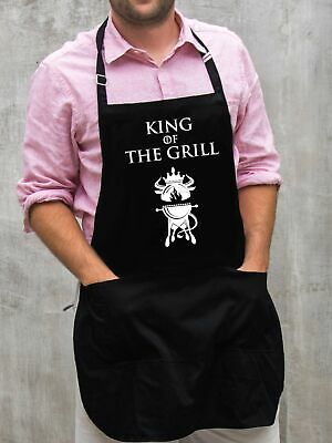 $22 • Buy King Of The Grill Apron / Funny BBQ Grilling Gift For Men - Dads & Grandpas