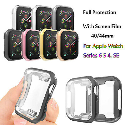$ CDN5.07 • Buy TPU Cover For Apple Watch Series 5 4 Full Screen Protector Film Clear Case 40/44