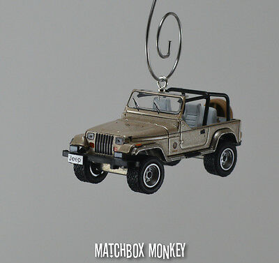 AU32.15 • Buy 1993 Jeep Wrangler Sahara Open Top Custom Ornament 1/64 XJ YJ Sand Beige Tan