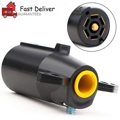 $ CDN8.69 • Buy 7 Way RV Style Trailer Light Plug Connector Replacement Blade Pin Adapter US