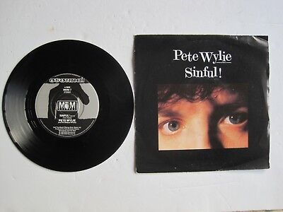 PETE WYLIE - SINFUL! - 7  45 Rpm Vinyl Record • 2.50£
