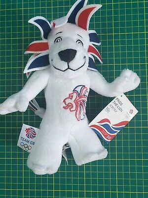 London Olympics Pride The Lion Team GB Toy 2012 London Mascot. Free UK Postage • 9.99£