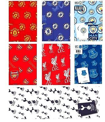 £2.45 • Buy Official FOOTBALL Gift Wrap Wrapping Paper Premiership Club - Choose Your Amount