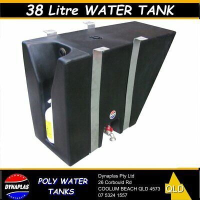AU299 • Buy 38 Litre Black Ute Poly Tray Top Water Tank 4x4 4wd Soap Holder Camper 4wd New