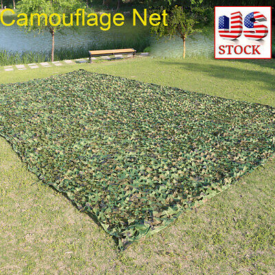 $18.78 • Buy Camouflage Army Green Net Netting Camping Military Hunting Woodland Leaves