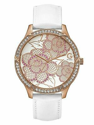 $ CDN114.06 • Buy Guess 48mm Women's Watch White Leather Belt G94085L1