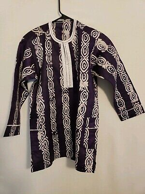 $25 • Buy African Boys Purple And White Shirt