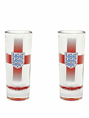 England Crest Shot Glasses 2 Pack - Great Gift For Birthday Christmas • 7.49£