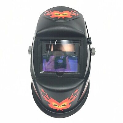 "TGR Extra Large View Auto Darkening Welding Helmet 4/""W x 3.65/""H with SIDE VIEW"