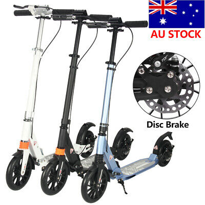 AU102.55 • Buy 🔥Folding Push Scooter Disc BrakeBig Dual Wheels Supension Adult Commuter Child