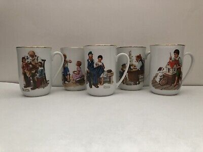 $ CDN29.84 • Buy Vintage Norman Rockwell Mugs - Lot Of 5 - 1982