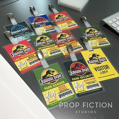 £34.65 • Buy Jurassic Park - Prop InGen Security Clip-onID Passes / Cosplay ID Card Badges