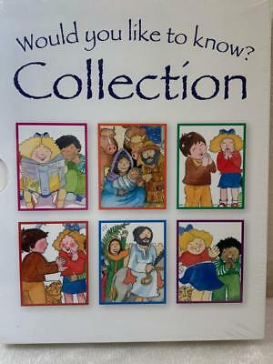 £7.45 • Buy Would You Like To Know Childrens Bible Collection 6 Books Easter Gift