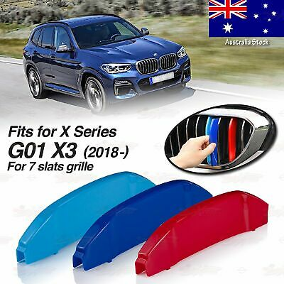AU24.95 • Buy M-Performance 7 BARS Kidney Grille 3 Color Cover Clips For BMW X3 G01 2018 & Up