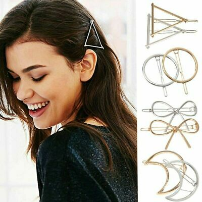 Women Geometric Hair Clips Barrettes Accessories Pins Clip Fastening Elegant • 0.75$