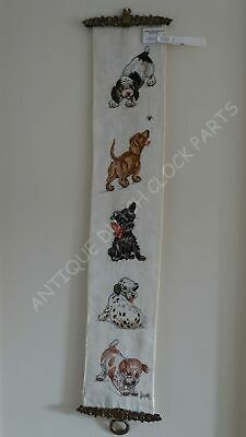 Dutch House Bell Pull Cord With Puppies Nice! • 50.07£