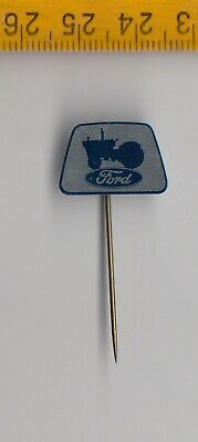 Vintage Tin Plate FORD TRACTOR Logo Tractor Stick Pin Badge 1960s • 2.95£