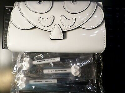 Mac Nicopanda Brush Bag + 461ses 536ses 531ses 3 Blush Eye Shadow Brush Set New • 32.16£