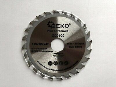 £5.99 • Buy Saw Blade Angle Grinder For Wood Cutting Disc Circular 115x22x24T Max 1200rpm
