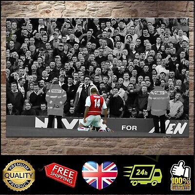 £26.97 • Buy Thierry Henry Arsenal 'Mind The Gap' Canvas Print Wall Art Poster Picture Photo