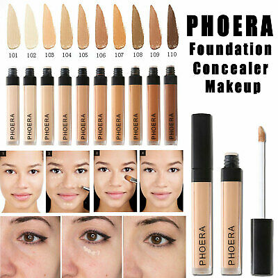 PHOERA Foundation Concealer Make Up Soft Brighten Matte Long Lasting Coverage UK • 5.89£